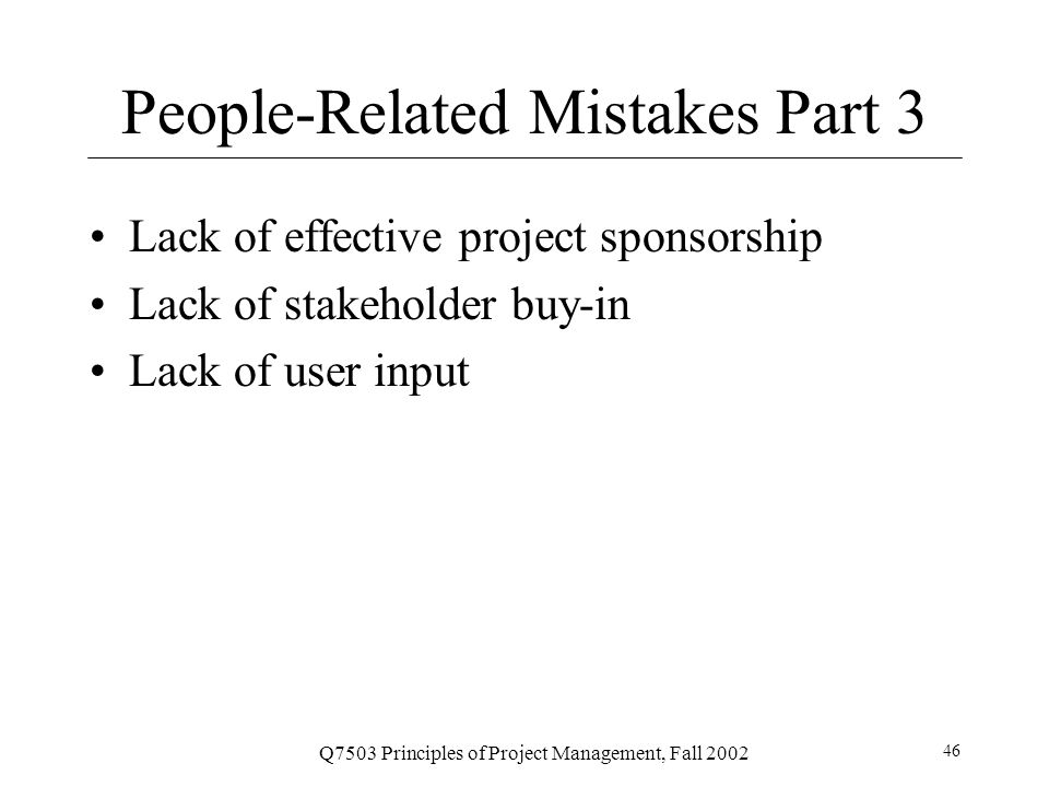 People-Related Mistakes Part 3
