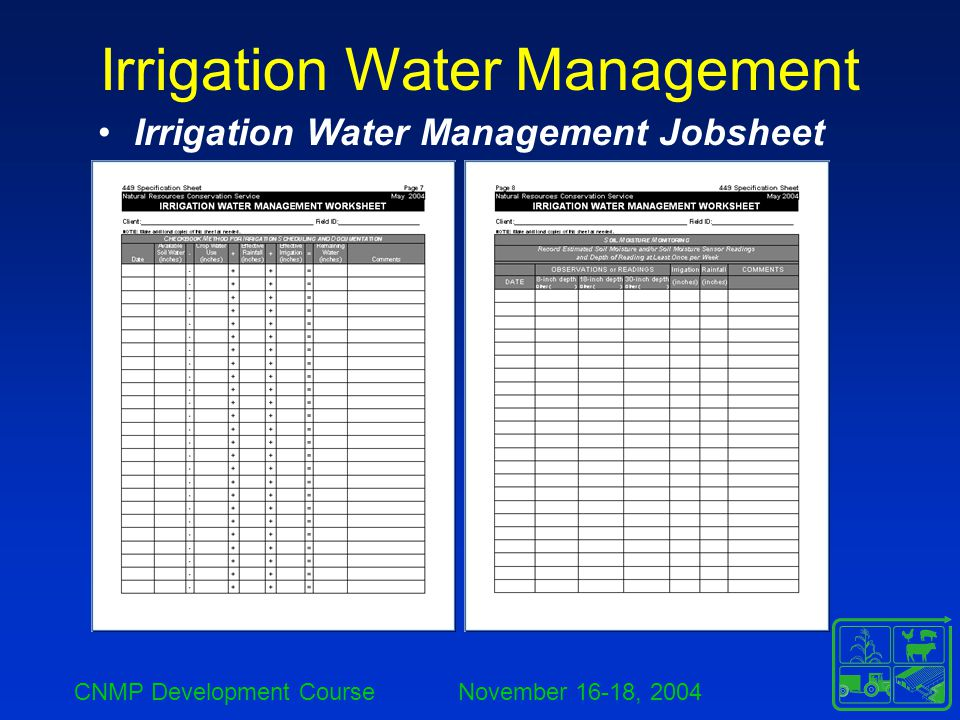 Irrigation Water Management