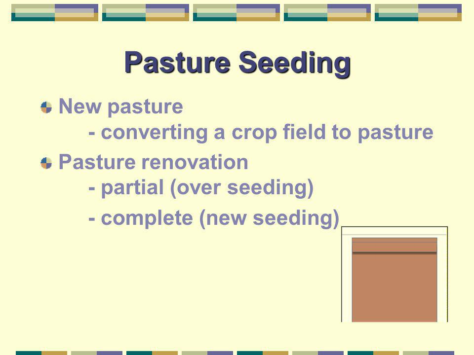 Pasture Seeding New pasture - converting a crop field to pasture