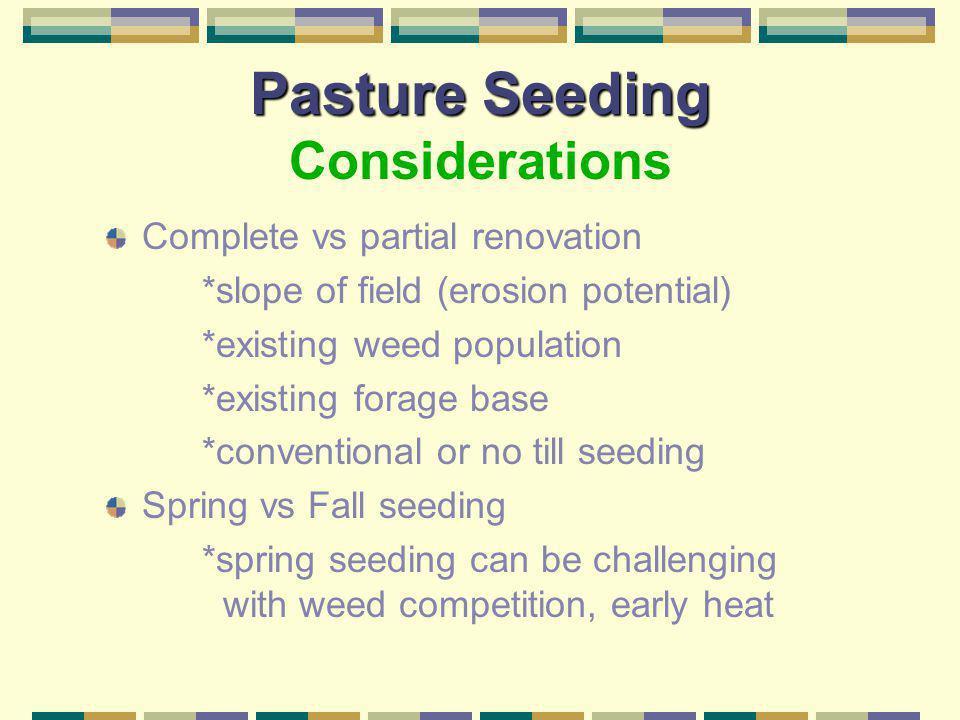 Pasture Seeding Considerations