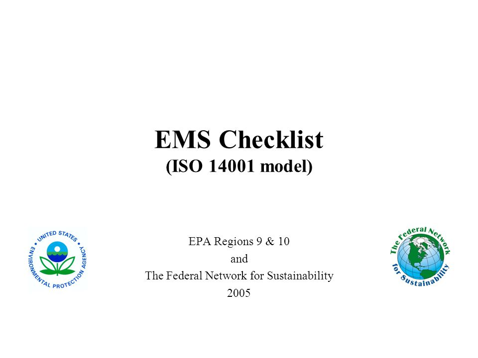 EMS Checklist (ISO model)