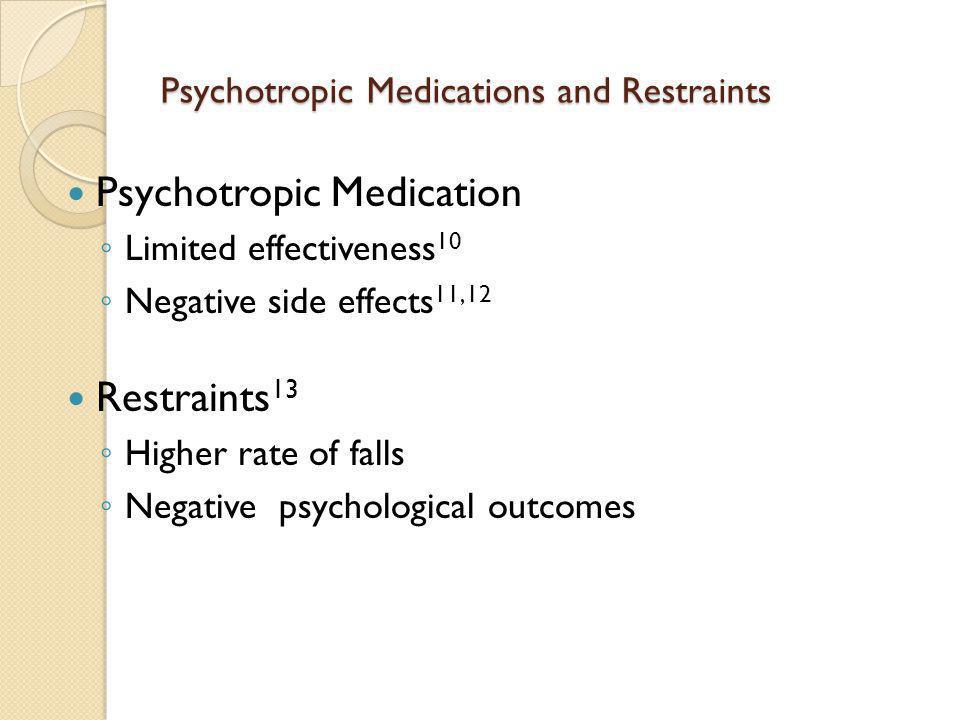 Psychotropic Medications and Restraints
