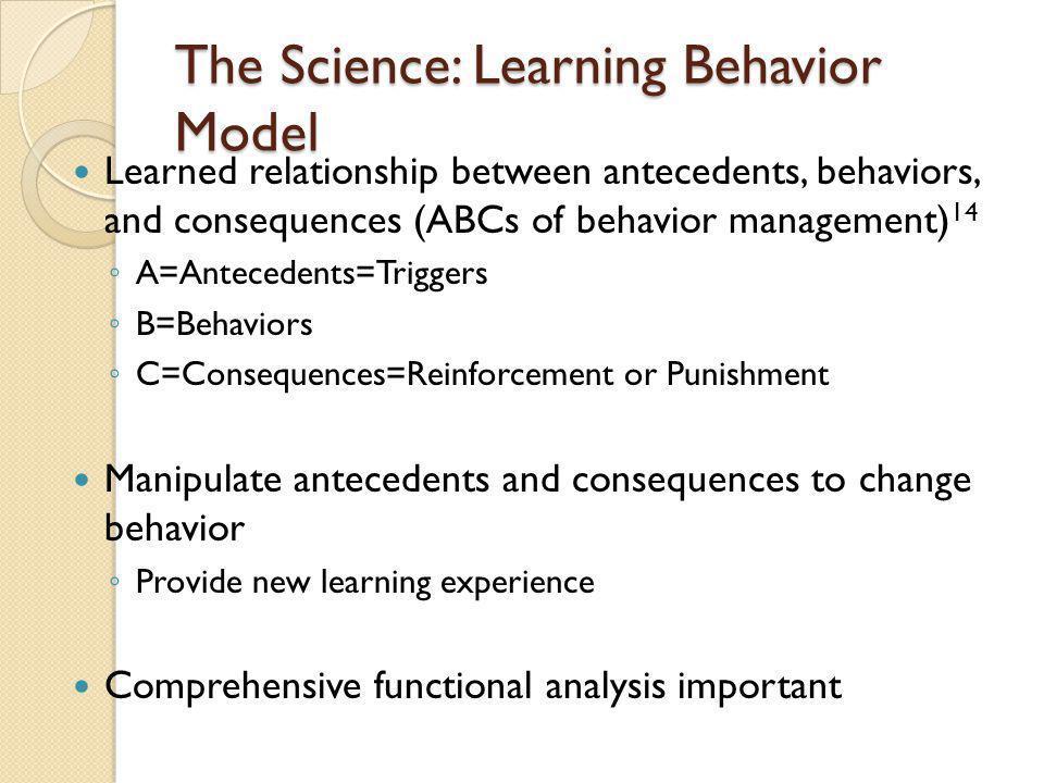 The Science: Learning Behavior Model