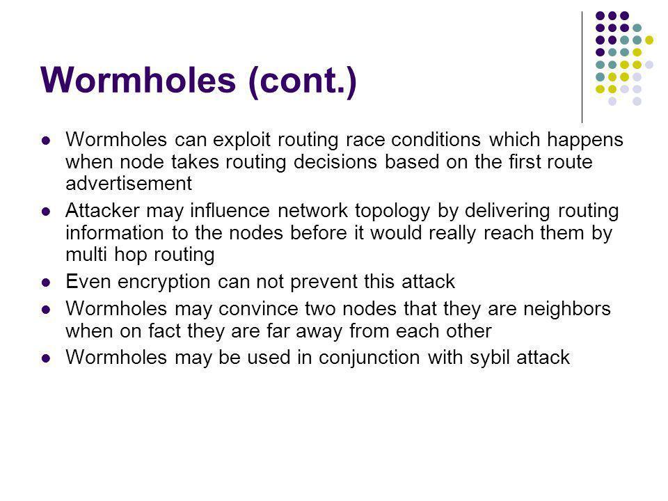 Wormholes (cont.)