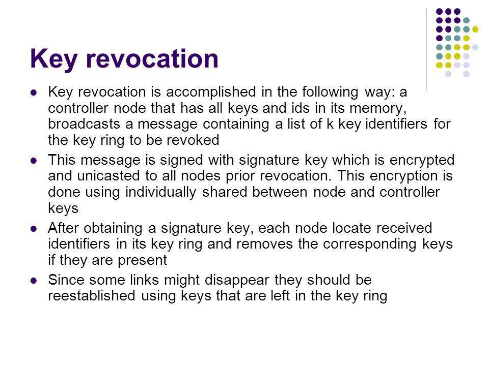 Key revocation