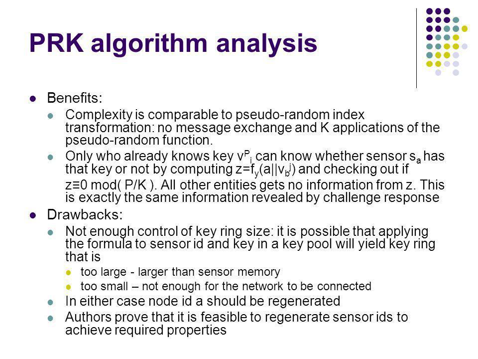 PRK algorithm analysis