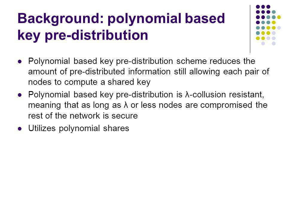 Background: polynomial based key pre-distribution