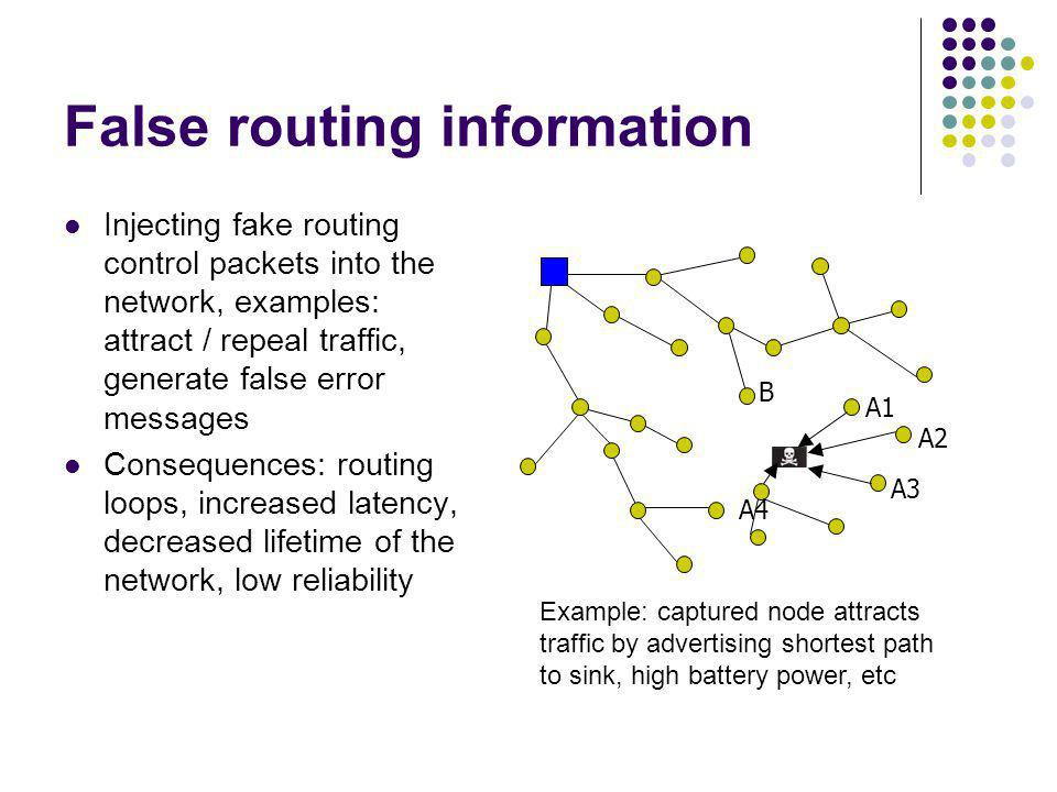 False routing information