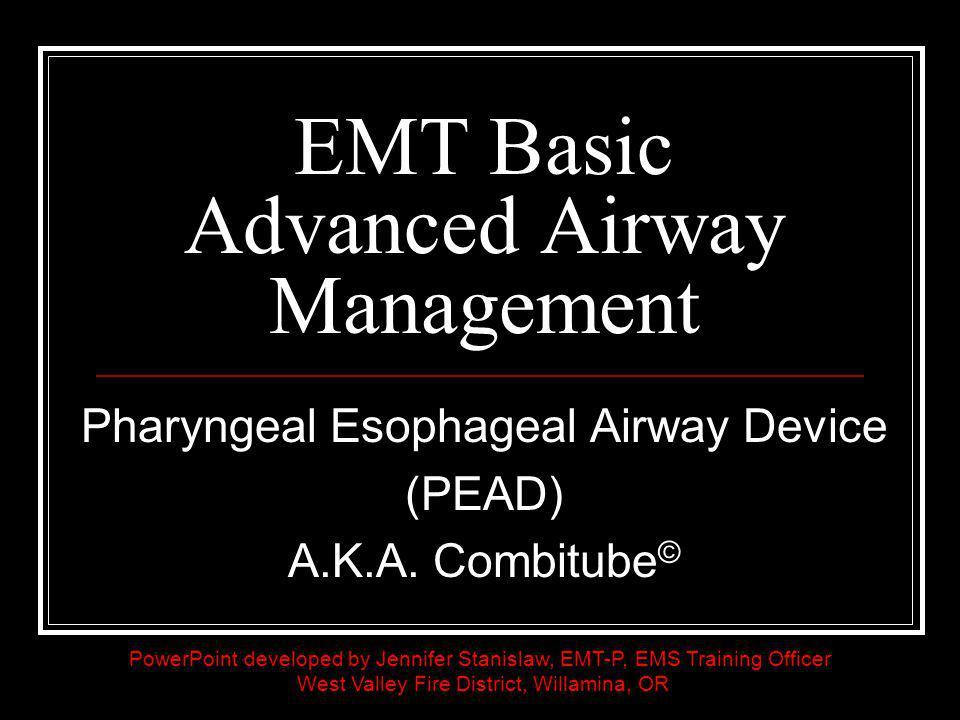 EMT Basic Advanced Airway Management