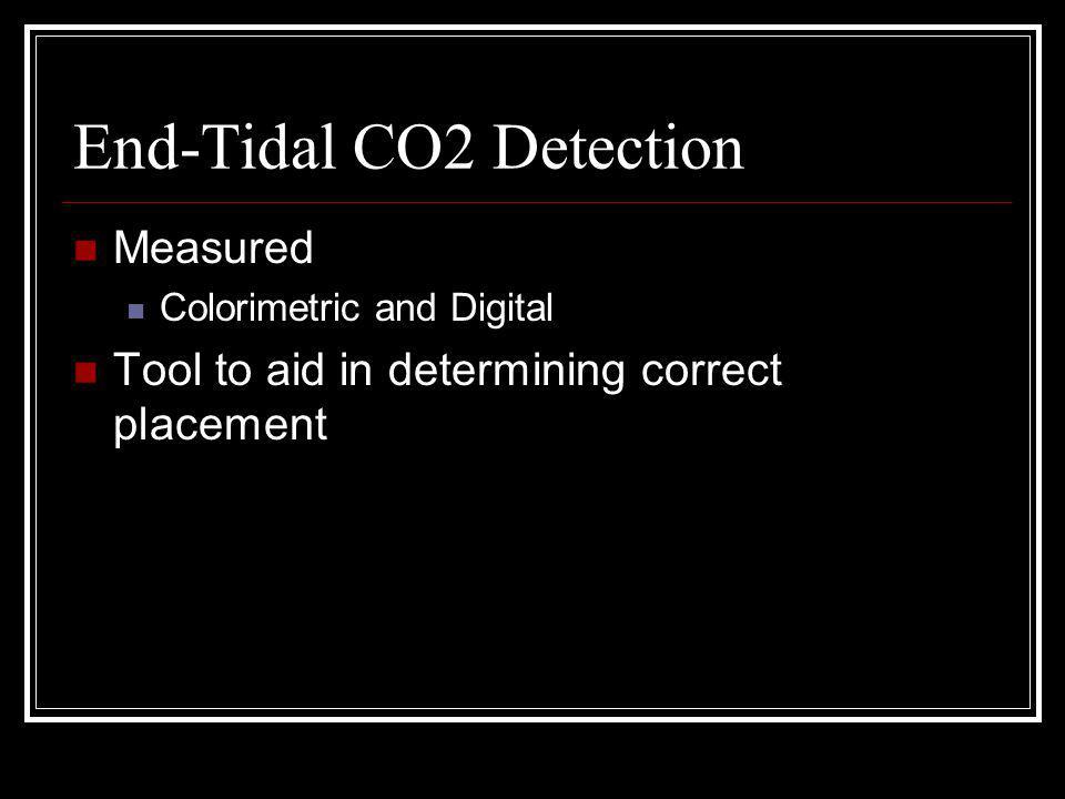 End-Tidal CO2 Detection