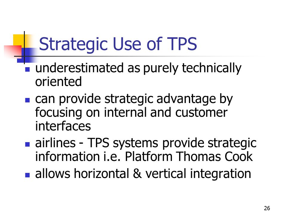Strategic Use of TPS underestimated as purely technically oriented