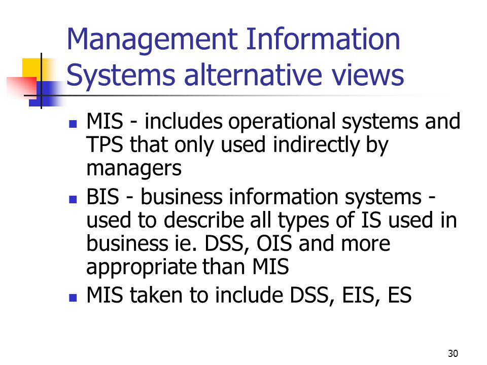 Management Information Systems alternative views