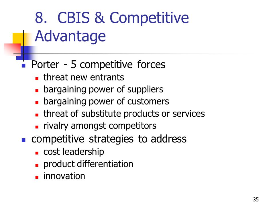 8. CBIS & Competitive Advantage