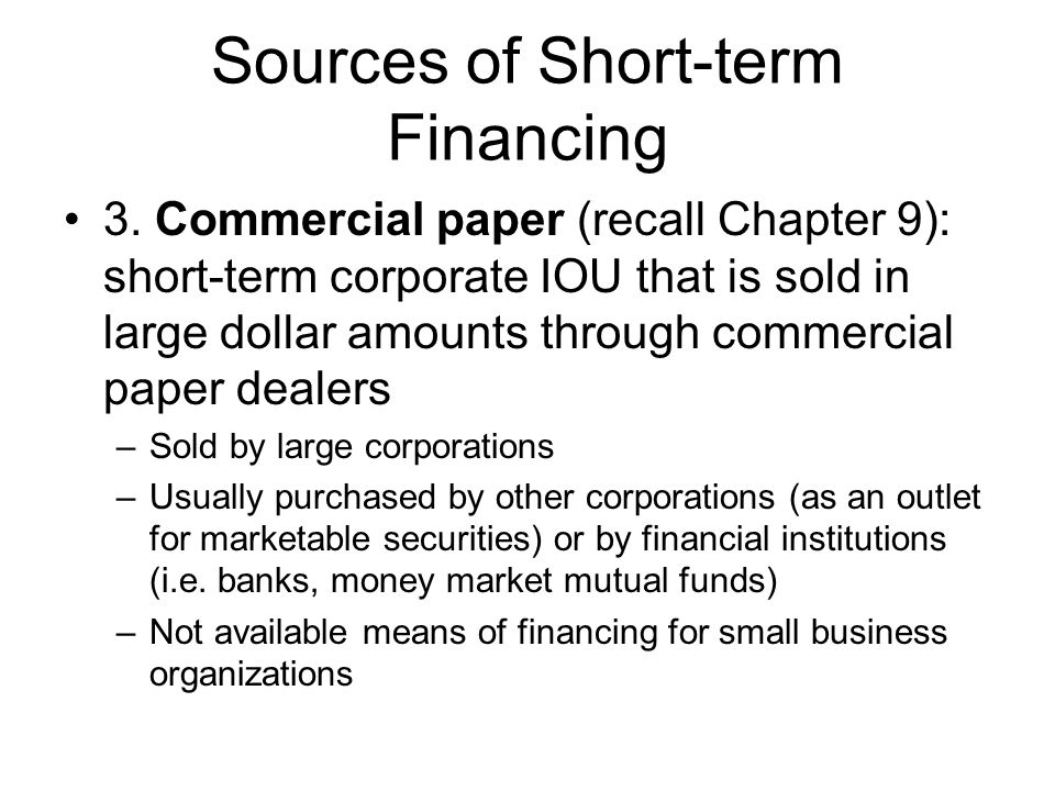 term paper short term financing Definition of short term loan in the financial dictionary - by free online english dictionary and encyclopedia short term paper short term paper.