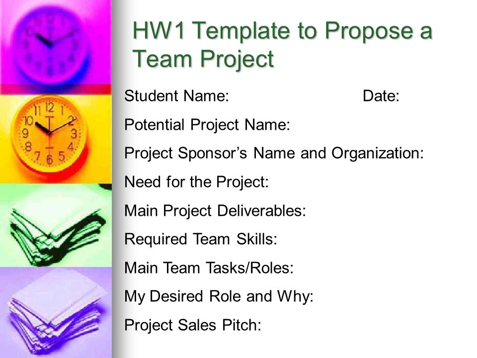 HW1 Template to Propose a Team Project