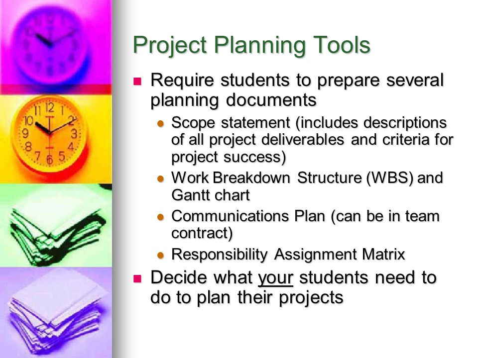 Project Planning Tools