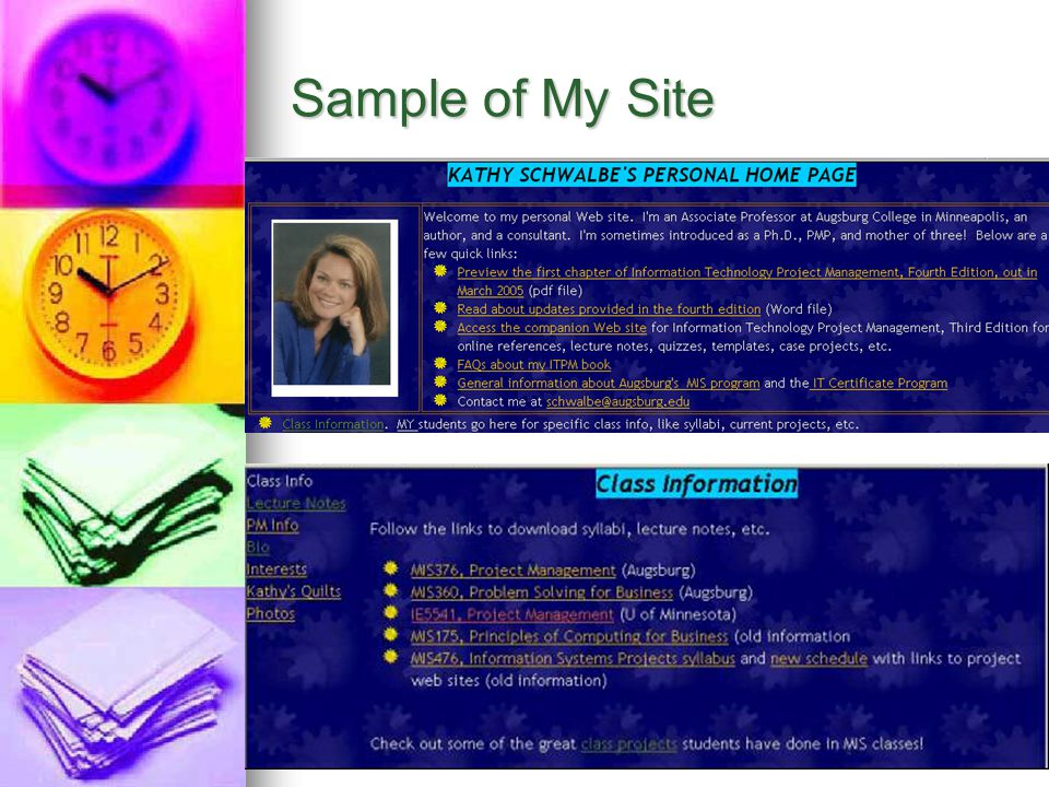 Sample of My Site