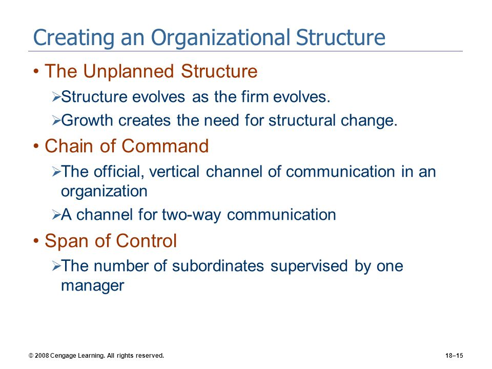 Creating an Organizational Structure