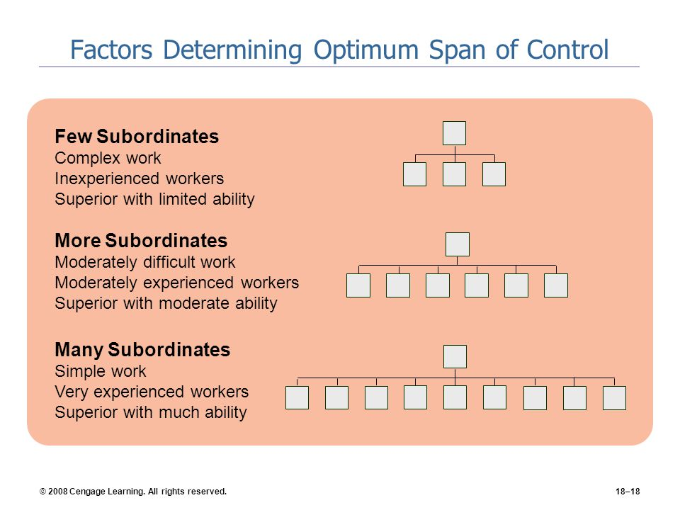 Factors Determining Optimum Span of Control