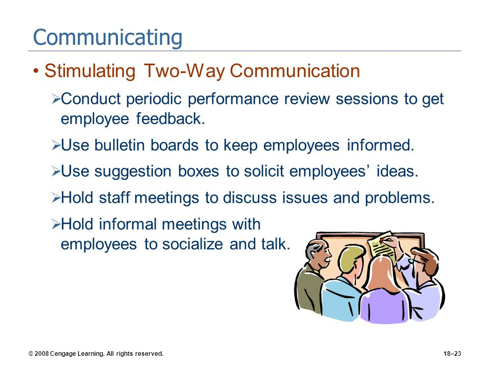 Communicating Stimulating Two-Way Communication