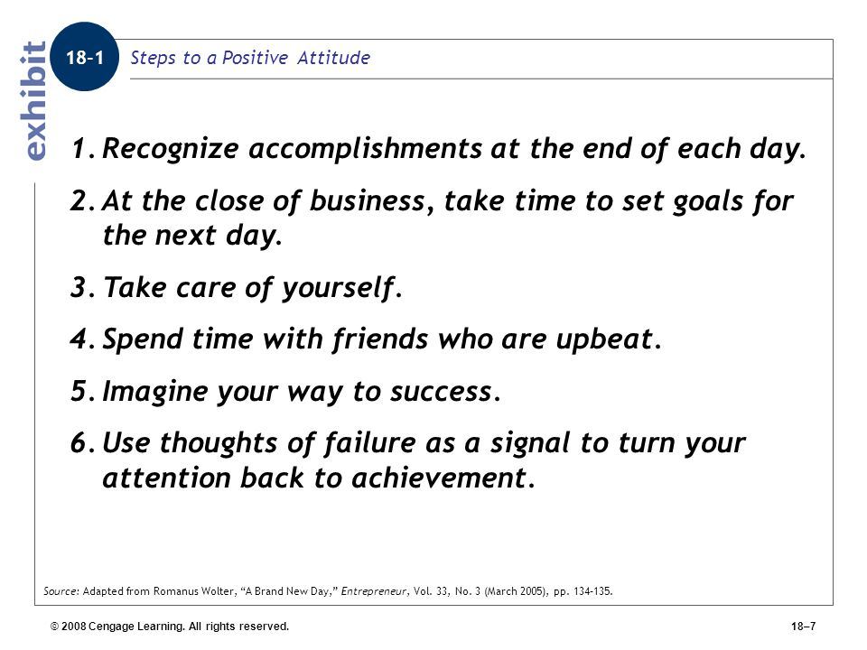 Steps to a Positive Attitude