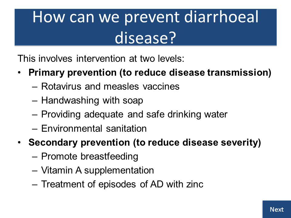 How can we prevent diarrhoeal disease