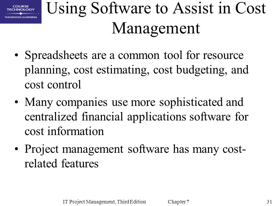 Using Software to Assist in Cost Management