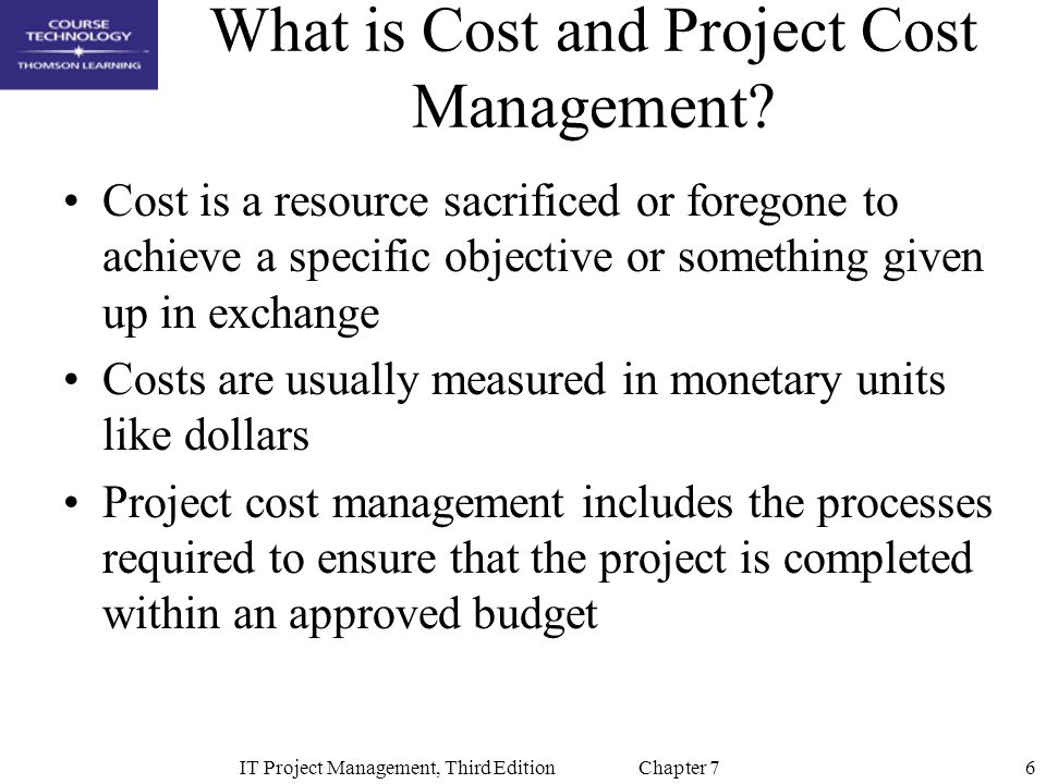 What is Cost and Project Cost Management