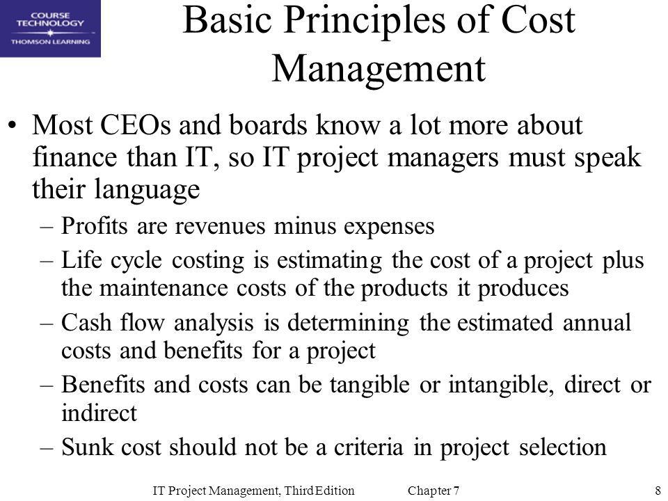 Basic Principles of Cost Management
