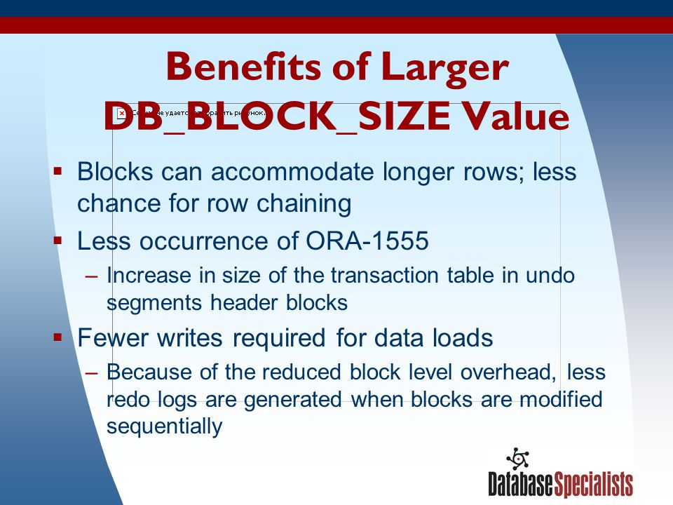 Benefits of Larger DB_BLOCK_SIZE Value
