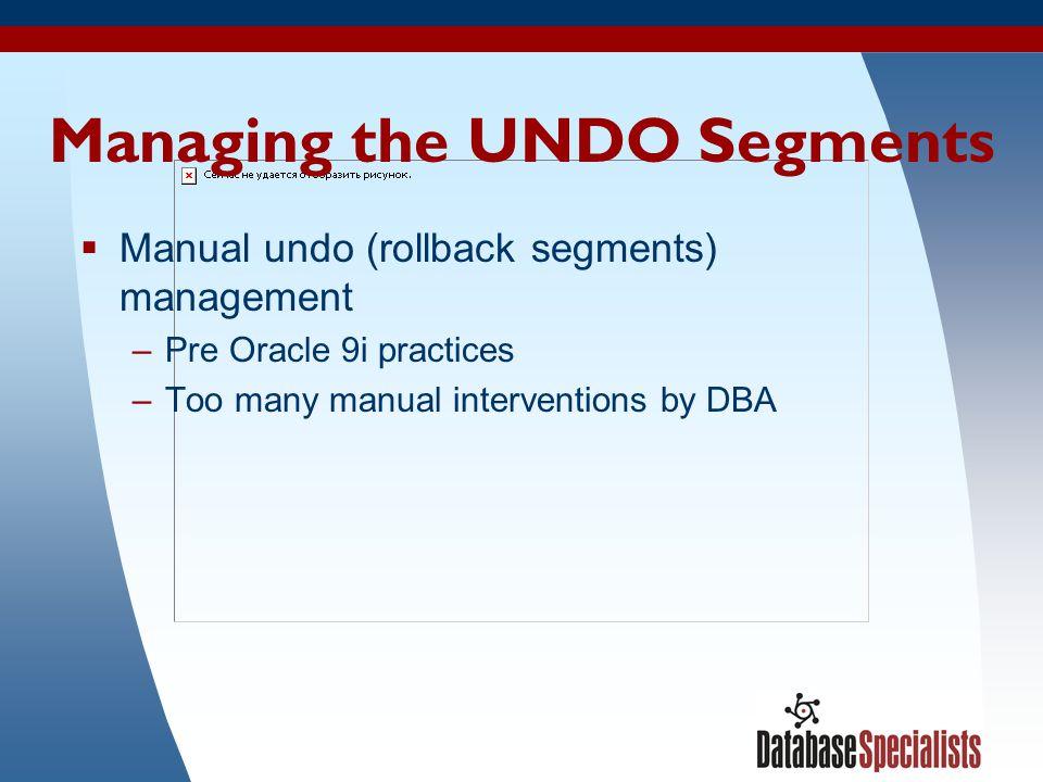 Managing the UNDO Segments