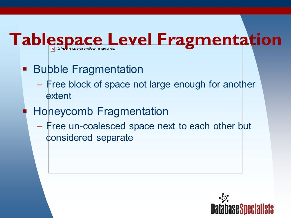 Tablespace Level Fragmentation
