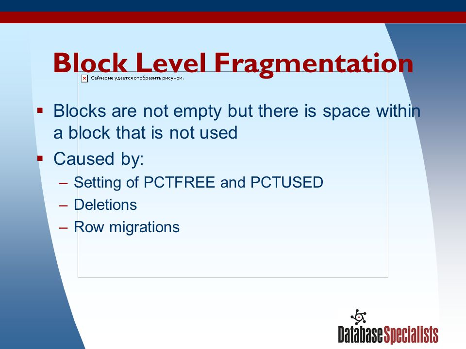 Block Level Fragmentation