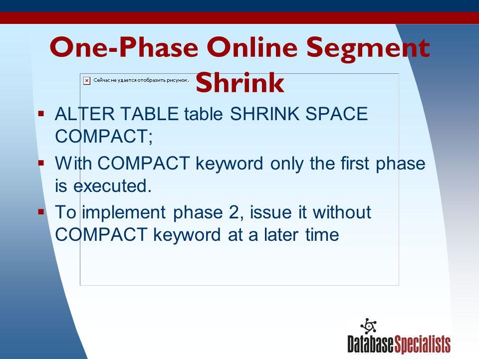 One-Phase Online Segment Shrink