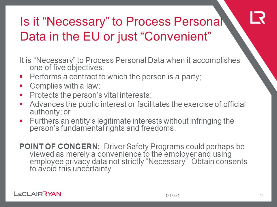 Is it Necessary to Process Personal Data in the EU or just Convenient