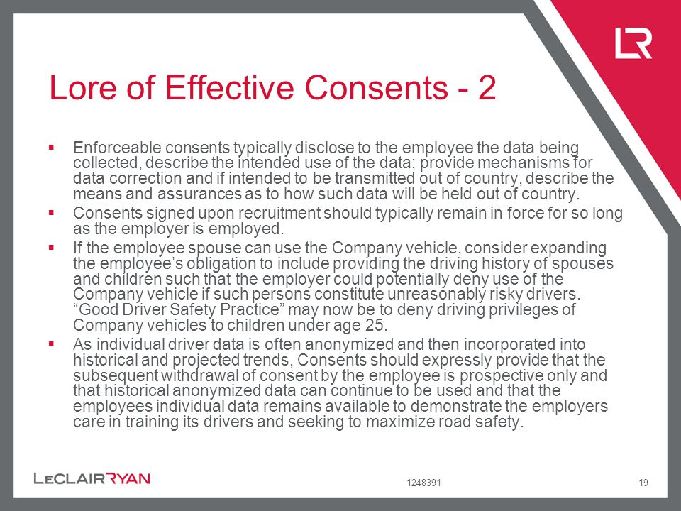 Lore of Effective Consents - 2