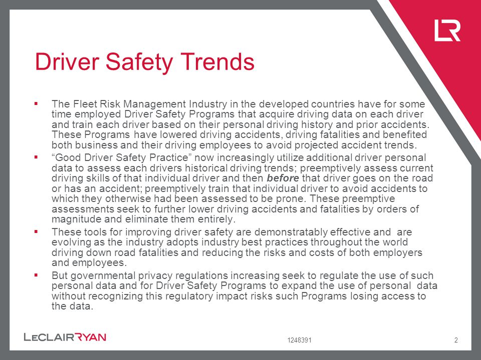 Driver Safety Trends
