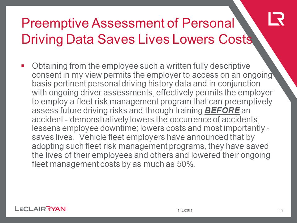 Preemptive Assessment of Personal Driving Data Saves Lives Lowers Costs