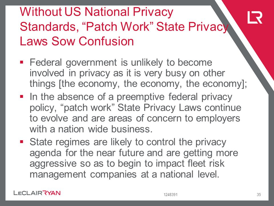 Without US National Privacy Standards, Patch Work State Privacy Laws Sow Confusion