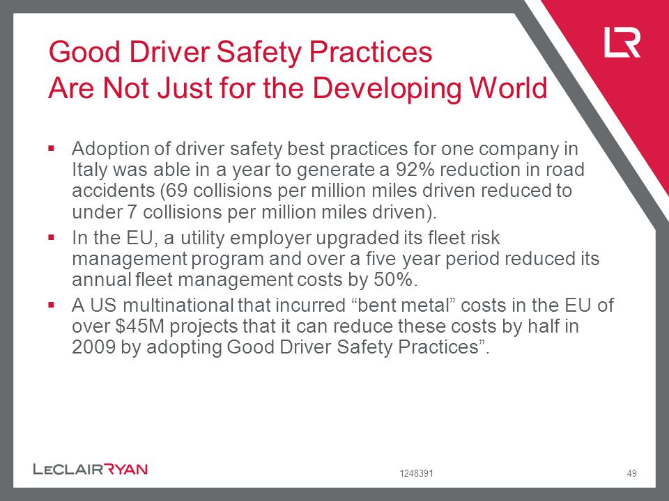 Good Driver Safety Practices Are Not Just for the Developing World