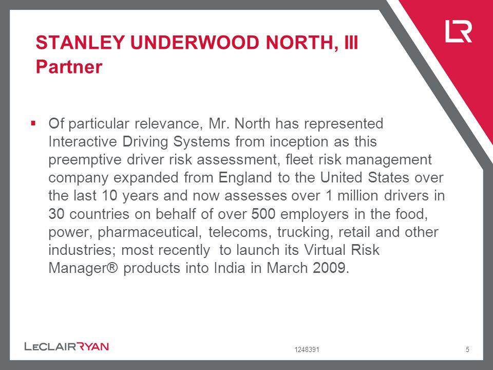 STANLEY UNDERWOOD NORTH, III Partner