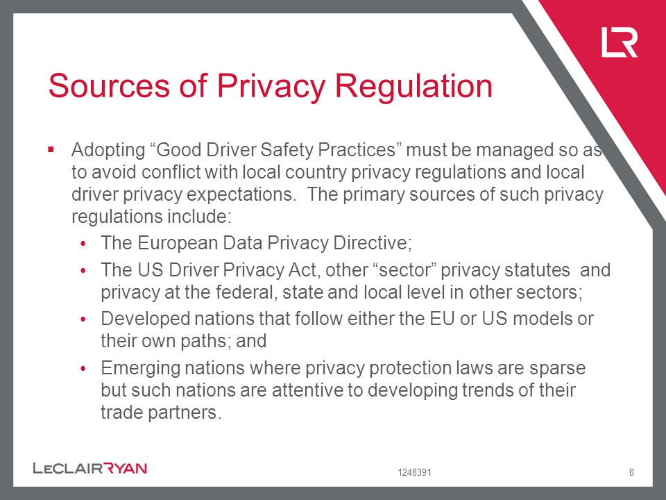 Sources of Privacy Regulation