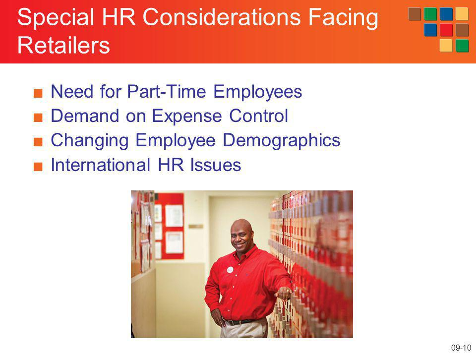 Special HR Considerations Facing Retailers