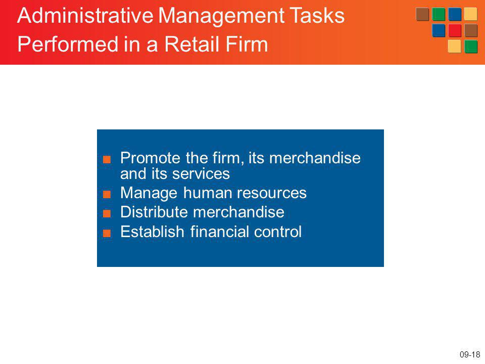 Administrative Management Tasks Performed in a Retail Firm