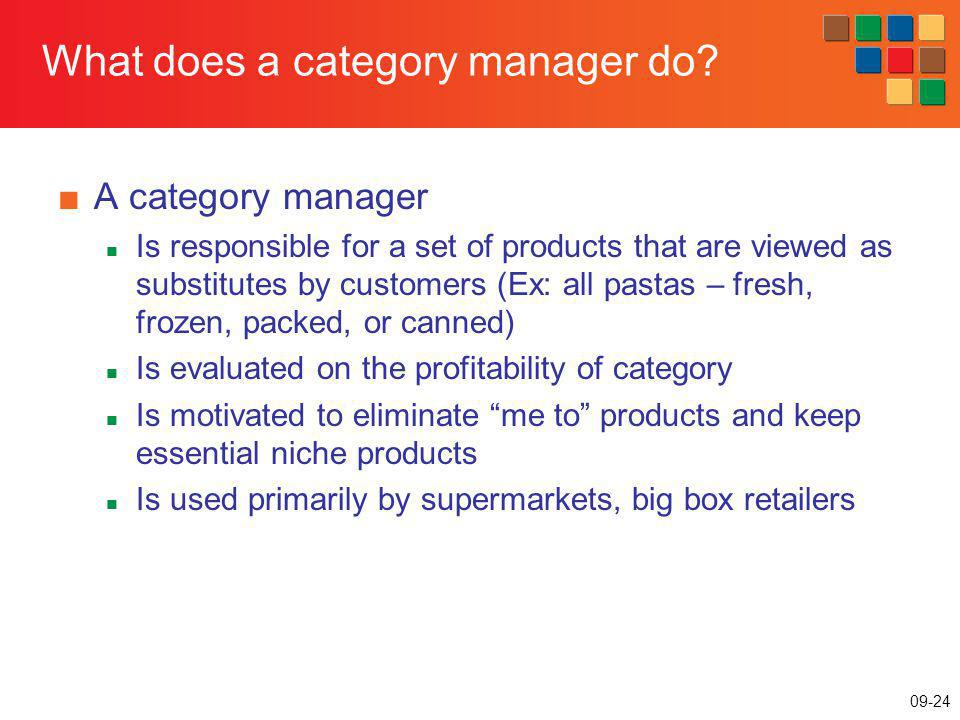What does a category manager do