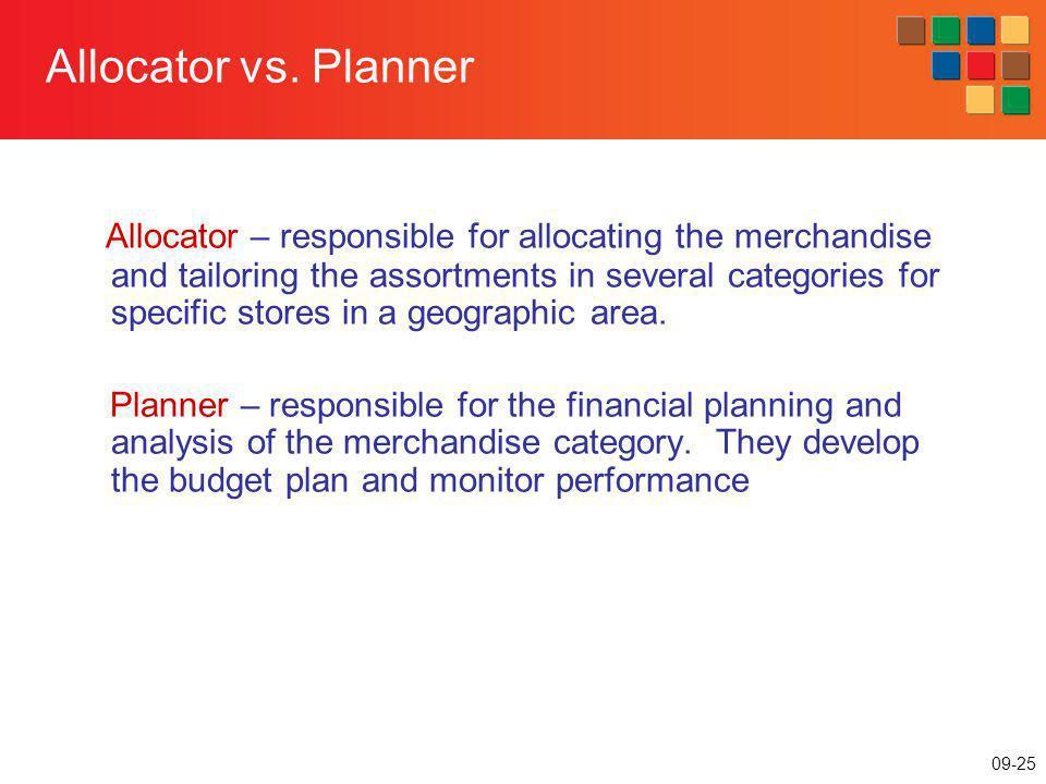 Allocator vs. Planner