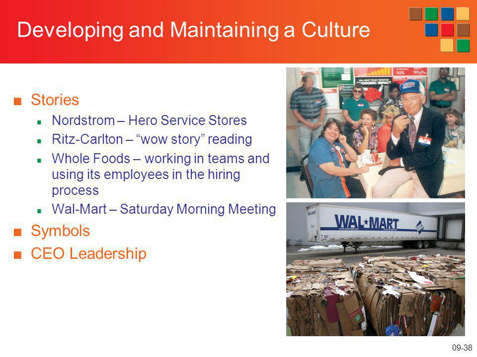 Developing and Maintaining a Culture
