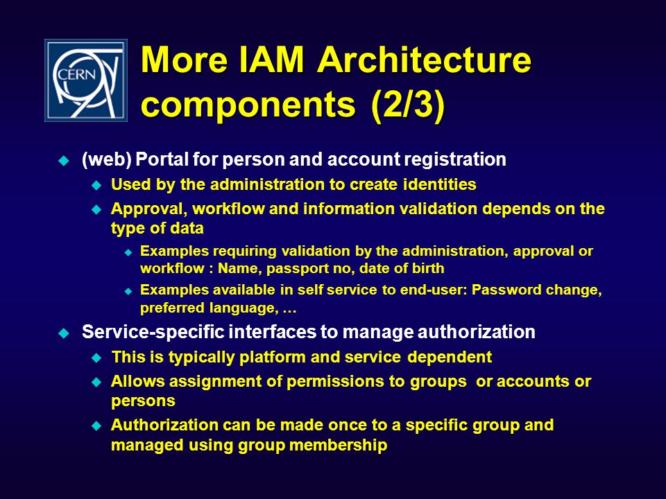 More IAM Architecture components (2/3)