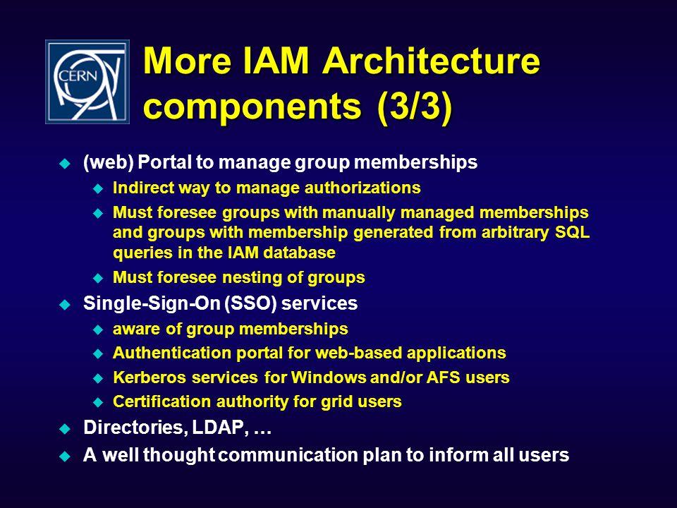 More IAM Architecture components (3/3)