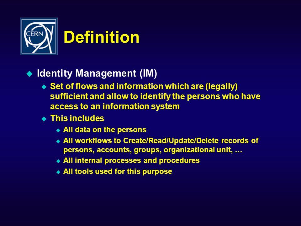 Definition Identity Management (IM)